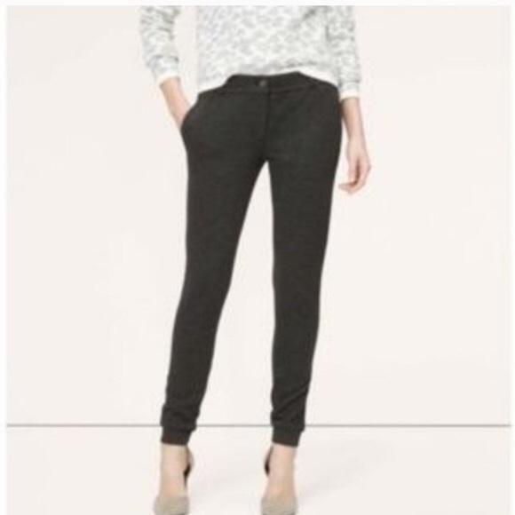 8d28dad25bab LOFT Pants | Cropped Textured Dressy Joggers | Poshmark